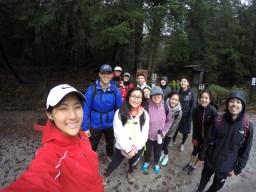 Finished hiking!
