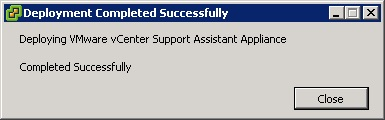 vcenter support assistant 5.5 - 15