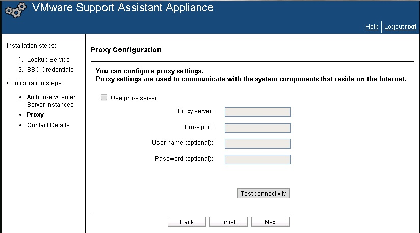 vcenter support assistant 5.5 - 22