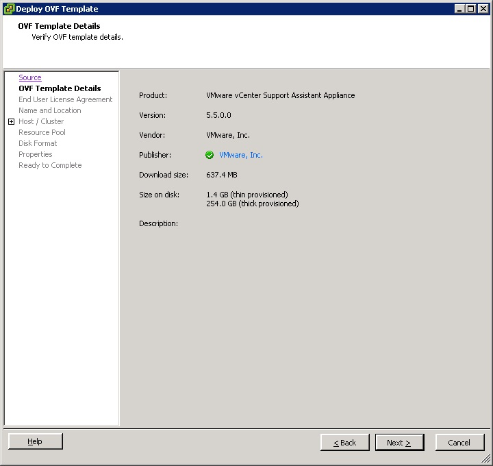 vcenter support assistant 5.5 - 4