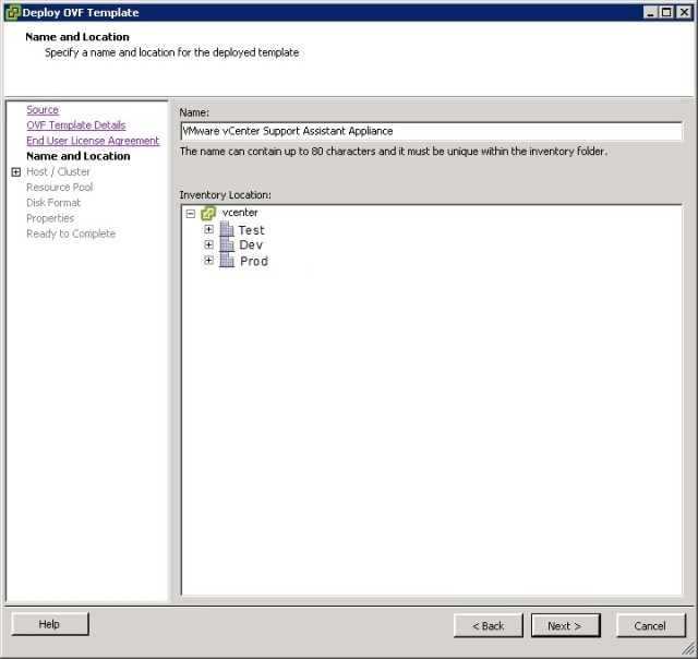 vcenter support assistant 5.5 - 6