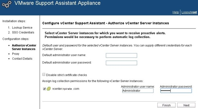 vcenter support assistant 5.5 - 21