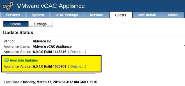 vCAC update 3