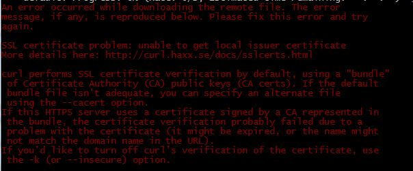 Vagrant cert error 1