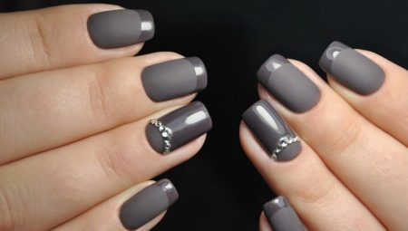 квадратные ногти дизайн 3