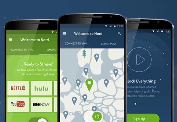 NordVPN app overzicht