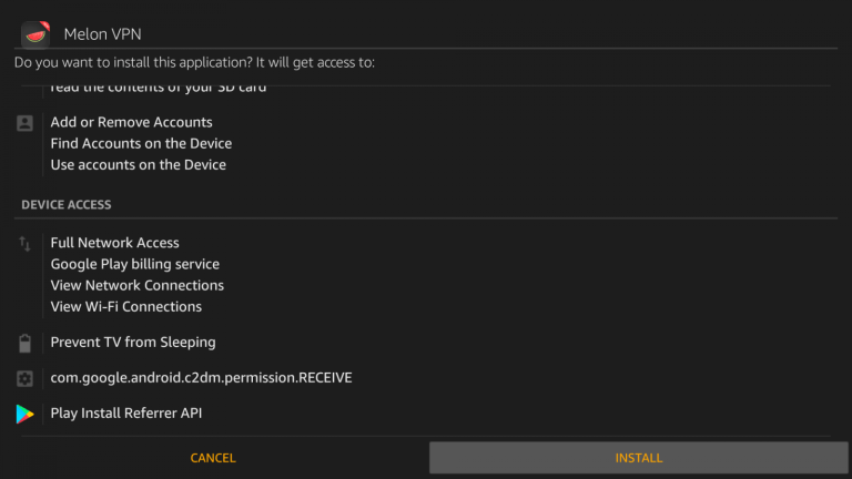 Melon VPN for Firestick