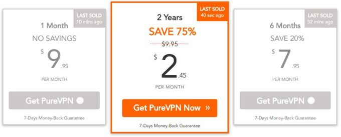 Get 2 years plan on PureVPN