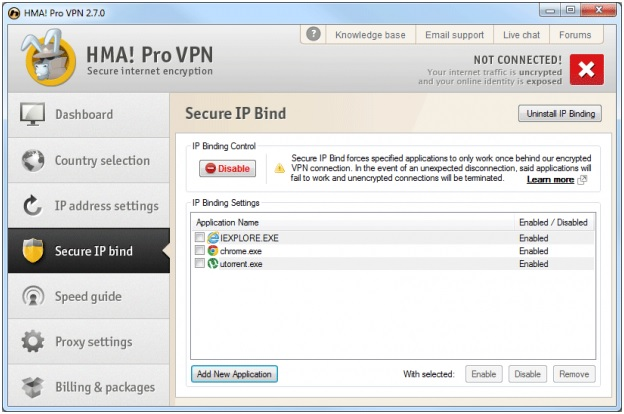 Secure ip bind of hidemyass vpn