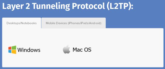 software with l2tp of bolehvpn