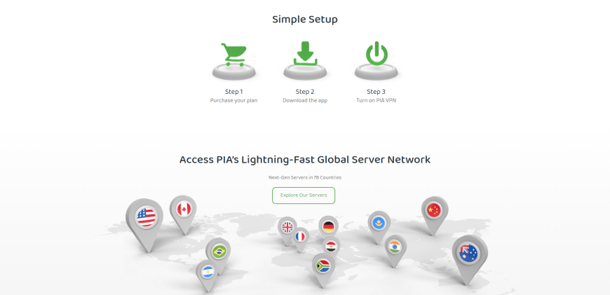 Access PIA's Lightning-Fast Global Server Network