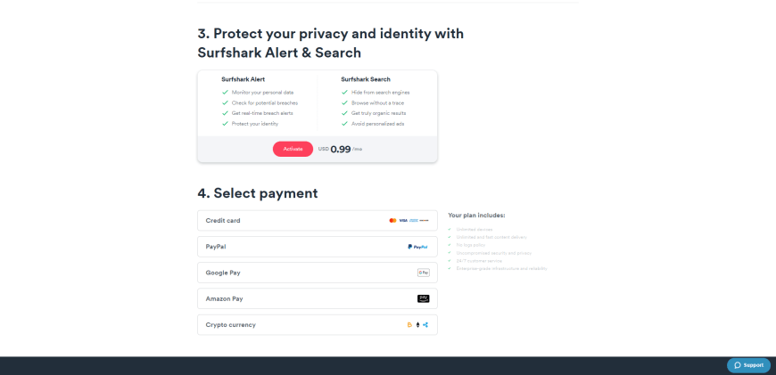Protect your privacy and identity with Surfshark Alert & Search