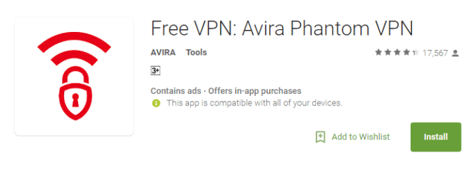 avira phantom vpn for pc windows