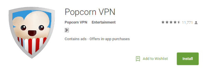 popcorn VPN for PC