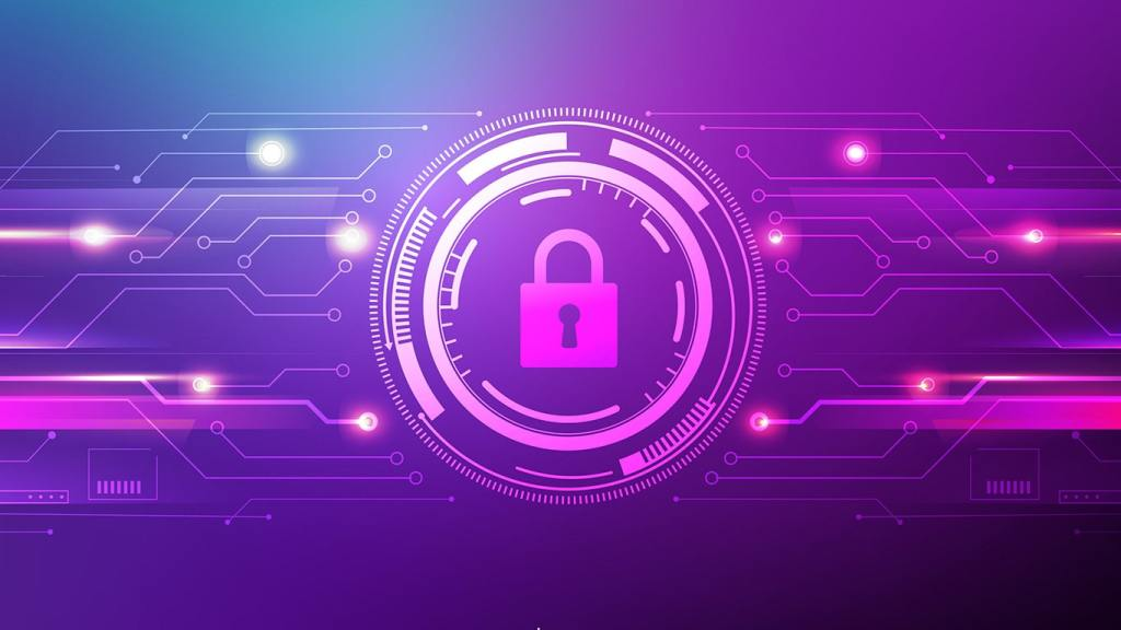 VPN Illustration on Purple Background
