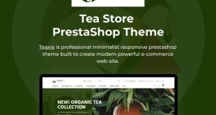 Teaxie - Tea Store PrestaShop Theme, Organic and Herbal Tea - 1