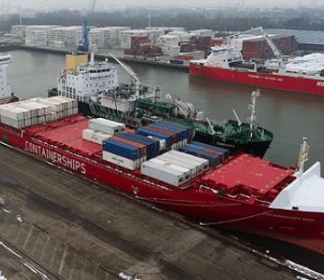 Containerships completes first LNG bunkering in Rotterdam