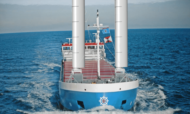Van Dam Shipping plans for wind assisted propulsion