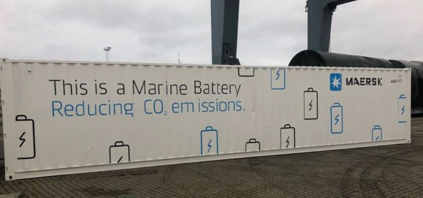 Maersk pilots battery to improve power efficiency