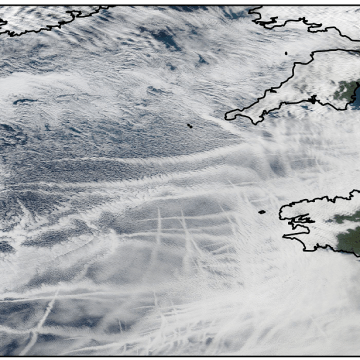 Satellite tracking shows relationship between ship emissions and cloud patterns