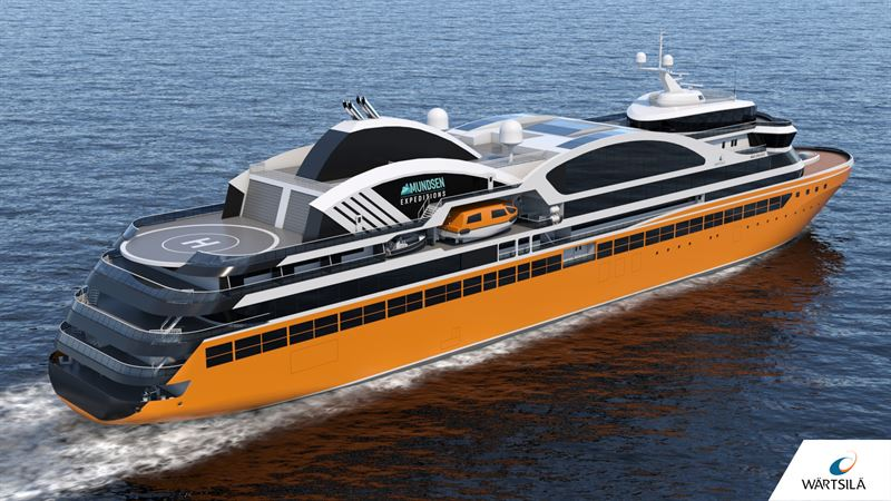 Amundsen Expeditions selects Wärtsilä to design polar and tropical cruise vessel