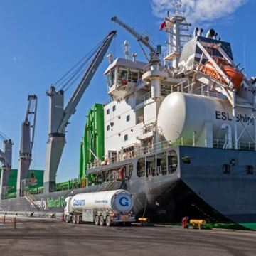 ESL Shipping fuels vessel with 100 per cent renewable liquefied biogas
