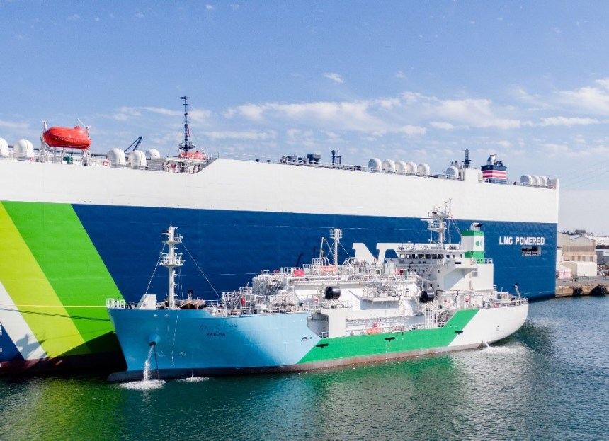 Japan commences first ship-to-ship LNG bunkering business