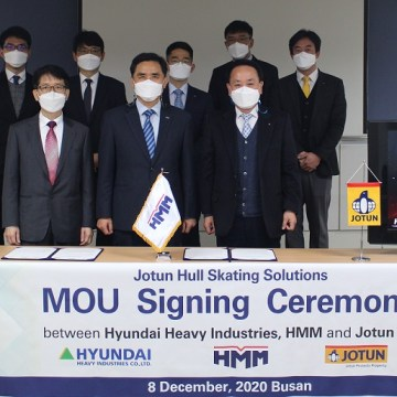 HHI and HMM sign MoU with Jotun to deploy robotic hull cleaner