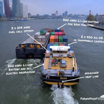 Future Proof Shipping retrofits inland container ship with fuel cell system