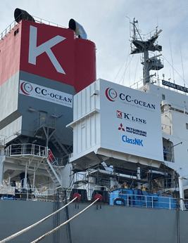CO2 capture plant installed onboard coal carrier