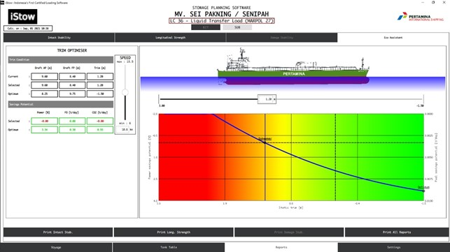 iStow loading software completes integration with DNV's Eco Assistant