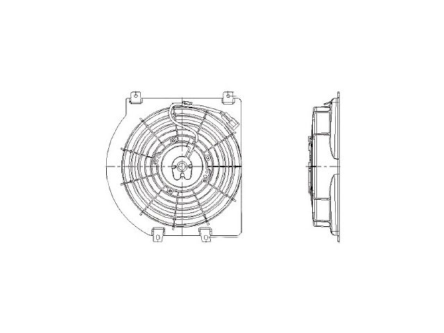 Radiator Fan Assembly For Isuzu Honda Rodeo Passport Axiom