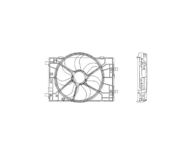 Radiator Fan Assembly For 06-09 Ford Lincoln Mercury