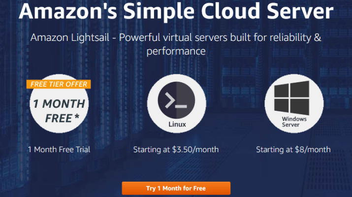 Amazon's Simple Cloud Server Amazon Lightsail