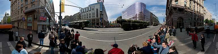 SТверская, Военный парад в Москве 9 мая 2008