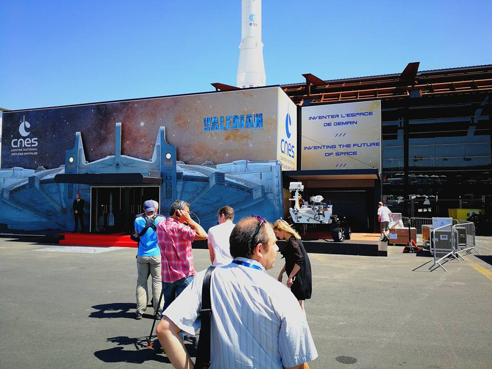Enter of the CNES Pavillon on the International Paris Air Show IPAS 2017 (Le Bourget)