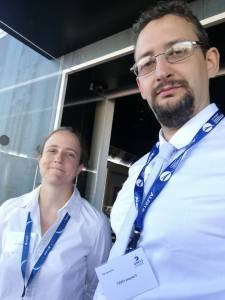 François Civet (PDG - VR2Planets) au côté de Susan Conway lors du Salon International de l'Aéronautique et de l'Espace 2017 (Le Bourget)