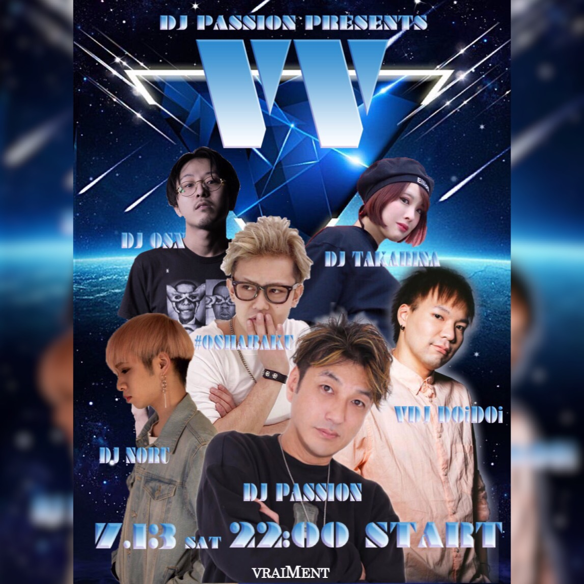 "【7月13日】DJ PASSION Presents ""VV"""