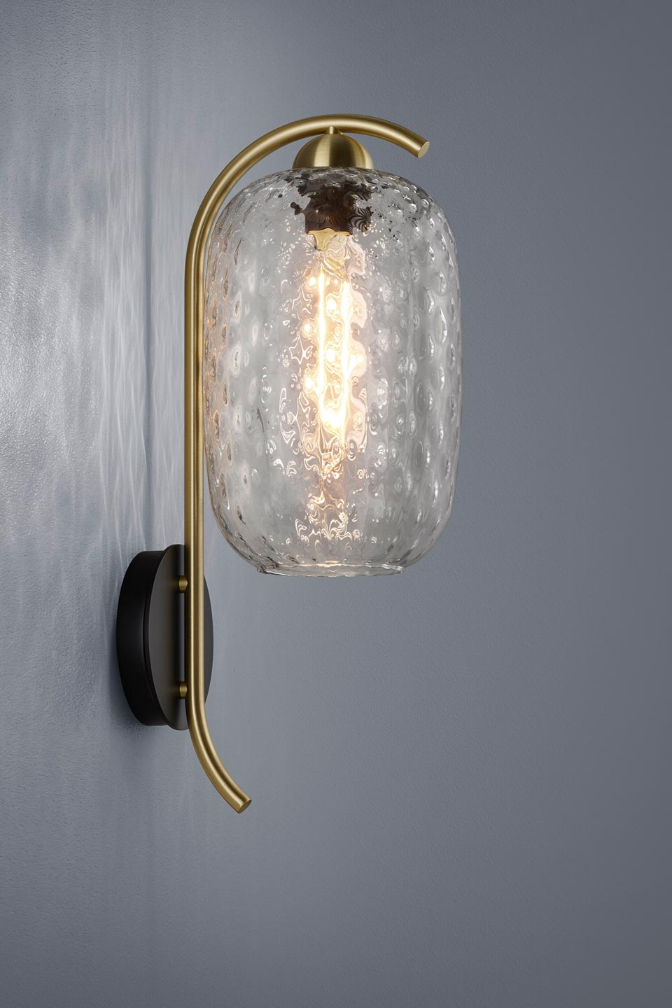 Leuchten Bilder Golden And Design Wall Lamp With Carved Glass: Baulmann Leuchten Luxury Lightings Made In Germany - Réf. 19030132