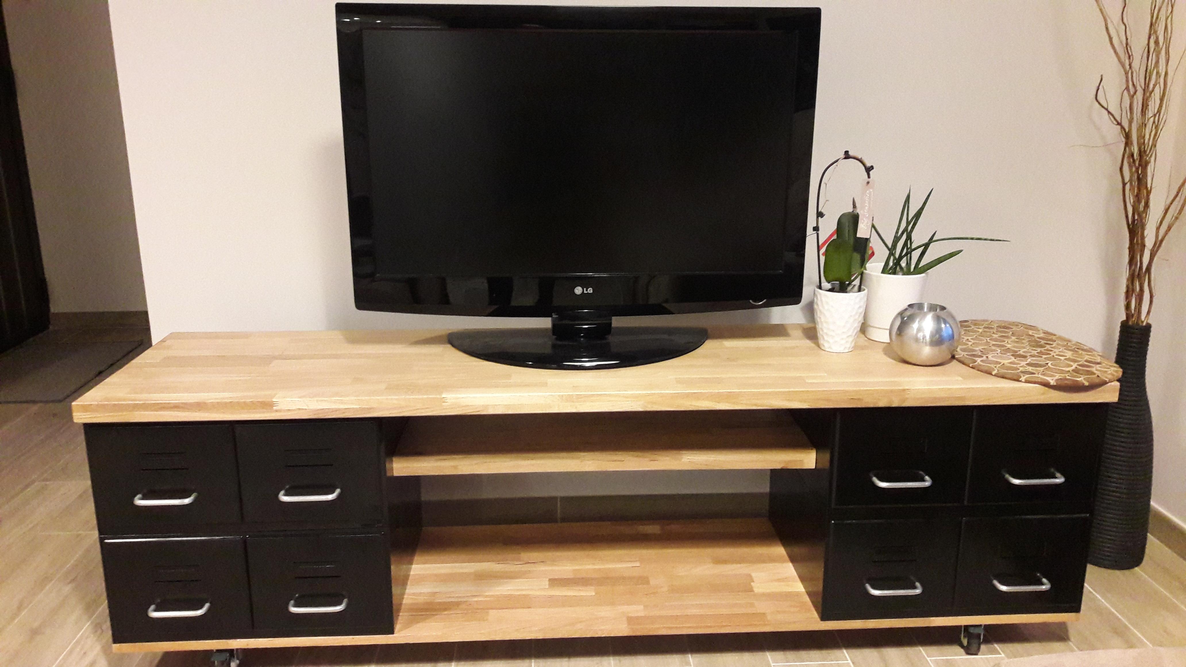 Meuble Tv En Parpaing Diy Cinder Block Tv Cabinet Things To Diy