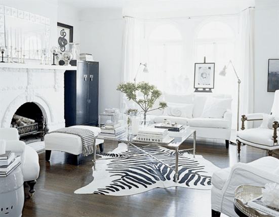 black and white living room interior design Black + White: 30 Most Beautiful Interiors | VRA Interiors