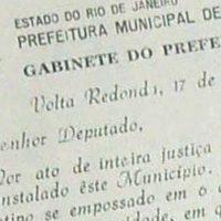 Documento histórico sobre a emancipação de Volta Redonda