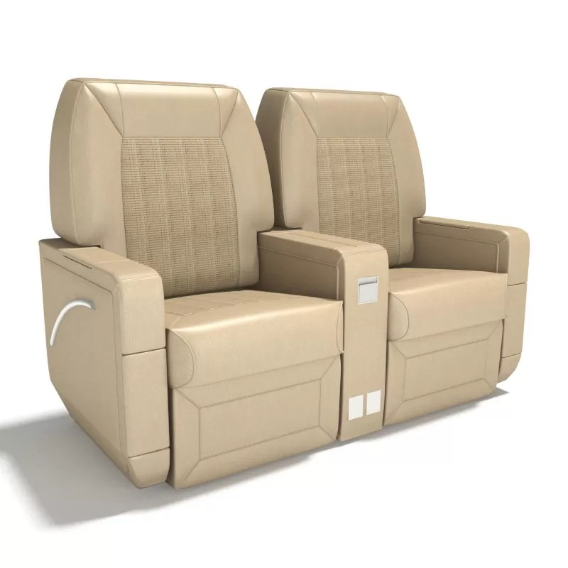 3D Model Airplane Seats  Airplane Interior 3D Model Chairs