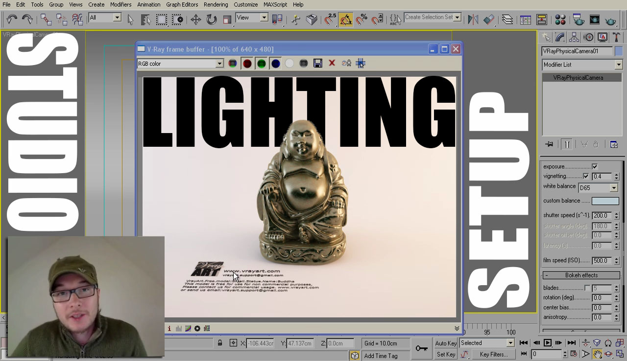 Professional Studio Lighting Setup With Vray And 3ds Max