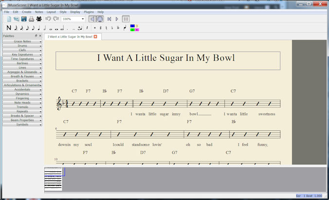 MuseScore Lead Sheet Plug-in