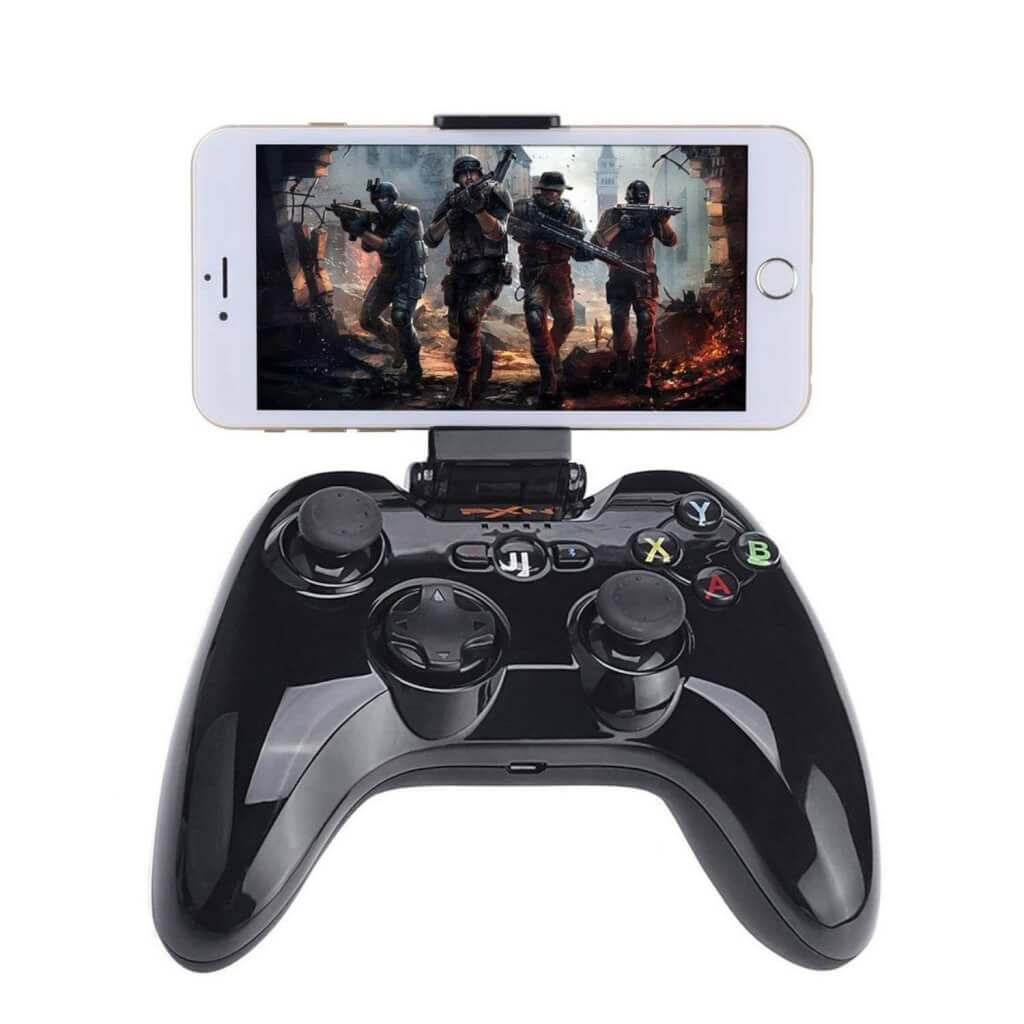 Megadream Apple MFi Certified App Store IOS Games Gamepad Joystick Controller for iPhone X 8 8Plus 7 7Plus 6S 6 5S, iPad Air 2 Mini 4 3 Pro, Apple TV – Clamp Holder Included
