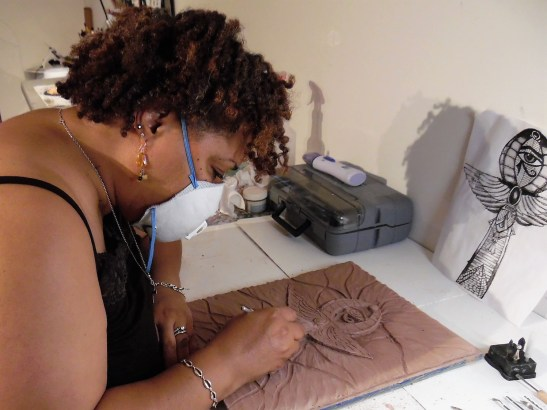 me carving the ankh2