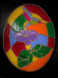 Dawn stained glass