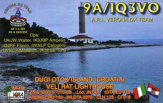 QSL 9A_IQ3VO 2013