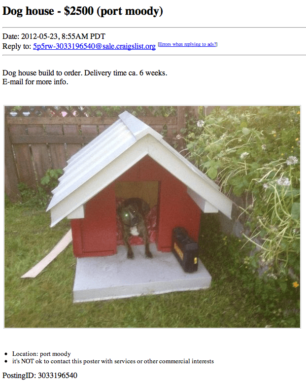 Dog Houses For Sale Craigslist : houses, craigslist, House, Moody,  <script type=